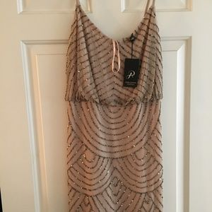 Adrianna Papell Sequin Blouson Dress (NEW W/ TAGS)